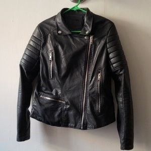 """Practically New """"Leather"""" Motto Jacket"""